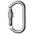 Steel Screw Gate Karabiner AZ011, Steel (18mm Opening)