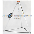 Confined Space Tripod And Fall Arrest Retrieval Winch 20 Metre