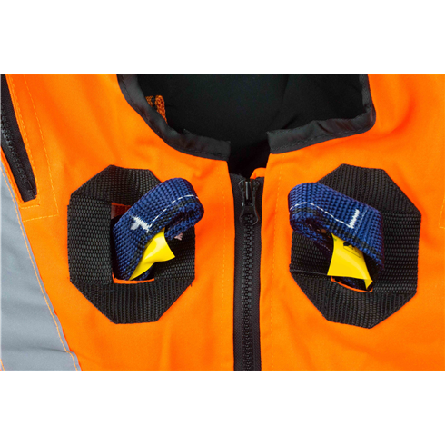 High Visibility ORANGE Jacket Safety Harness Elasticated With Quick Release Buckles