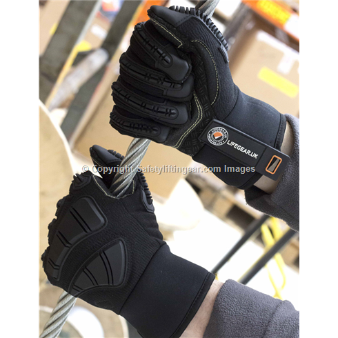 LifeGear Thermal-lined Cut Resistant Safety Impact Working Gloves