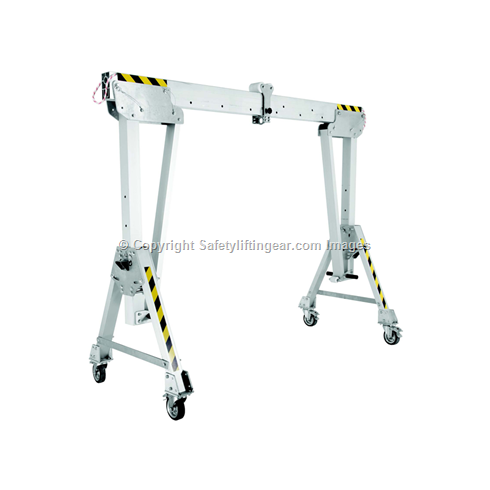 1250kg Aluminium Gantry, 4mtr beam, 1600-2200mm