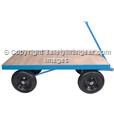 Site Trolley Heavy duty 1 tonne capacity Pneumatic Tyres