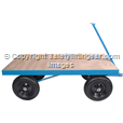 Site Trolley Heavy duty 1 tonne , Solid Tyres.