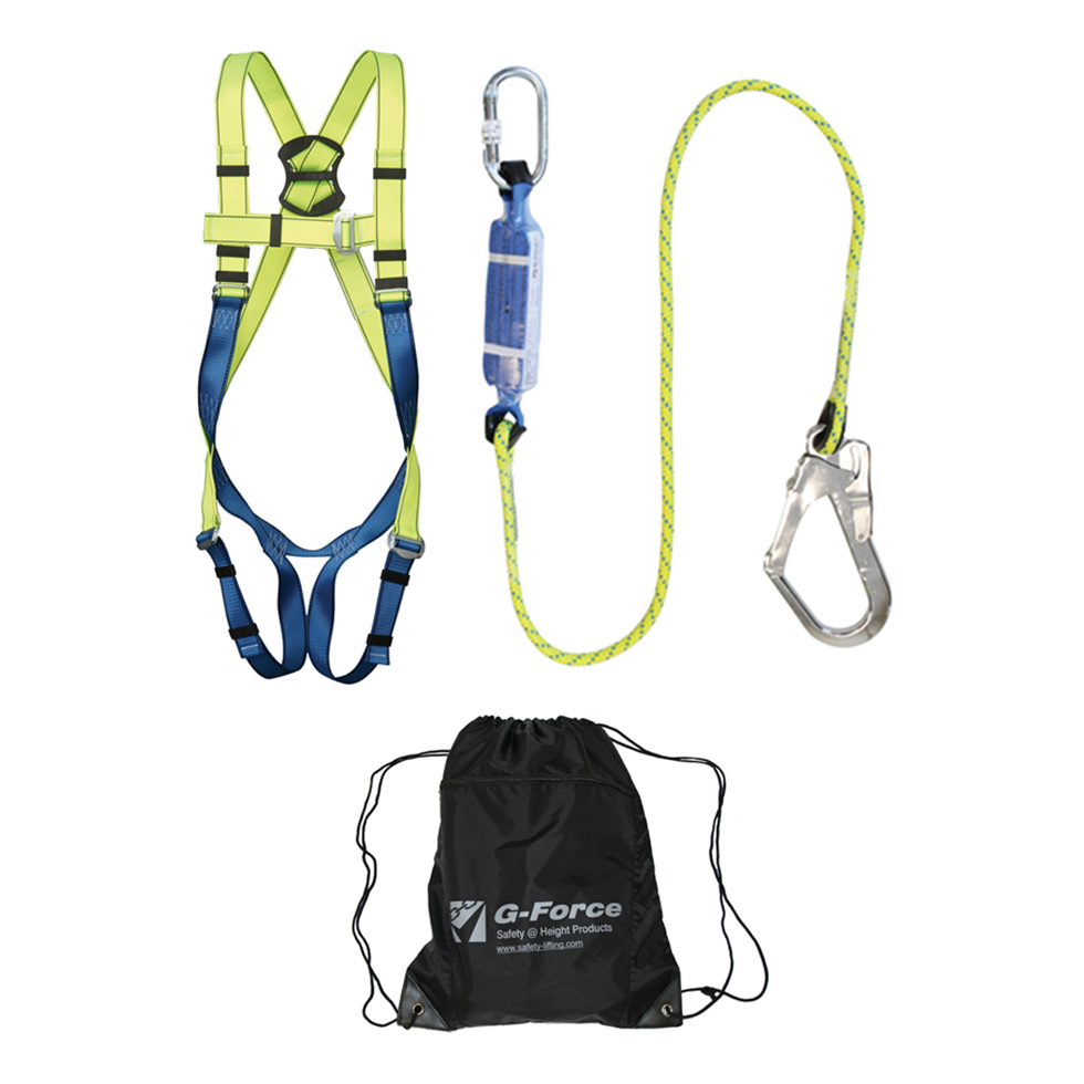 how to connect harness and lanyard