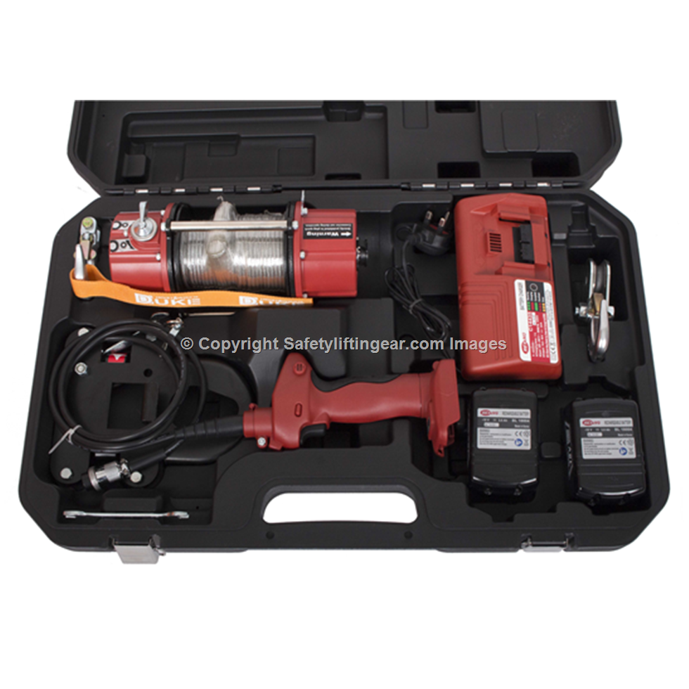 Battery Powered Portable Winch Pulling Force 750kg