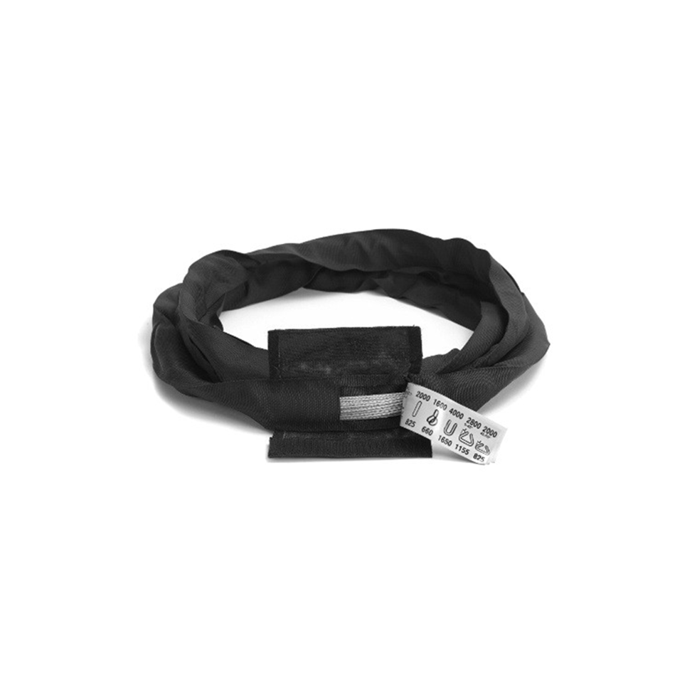 Soft Steel Core Black Roundsling 2tonne x 2mtr EWL  Safety Lifting