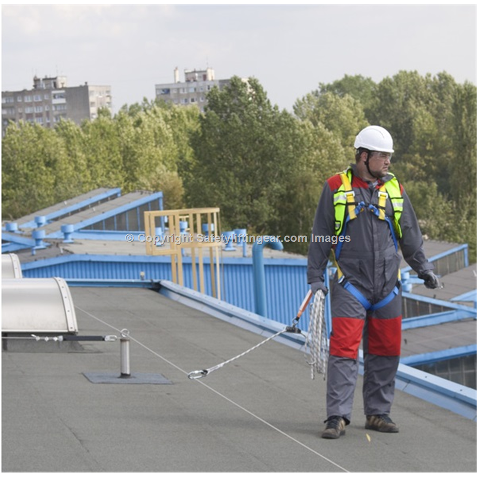 permament horizontal safety line system