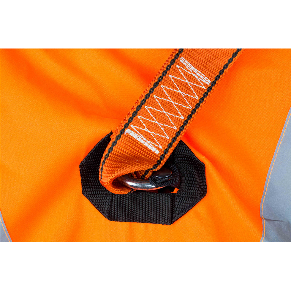 High Visibility Orange Jacket Safety Harness Elasticated
