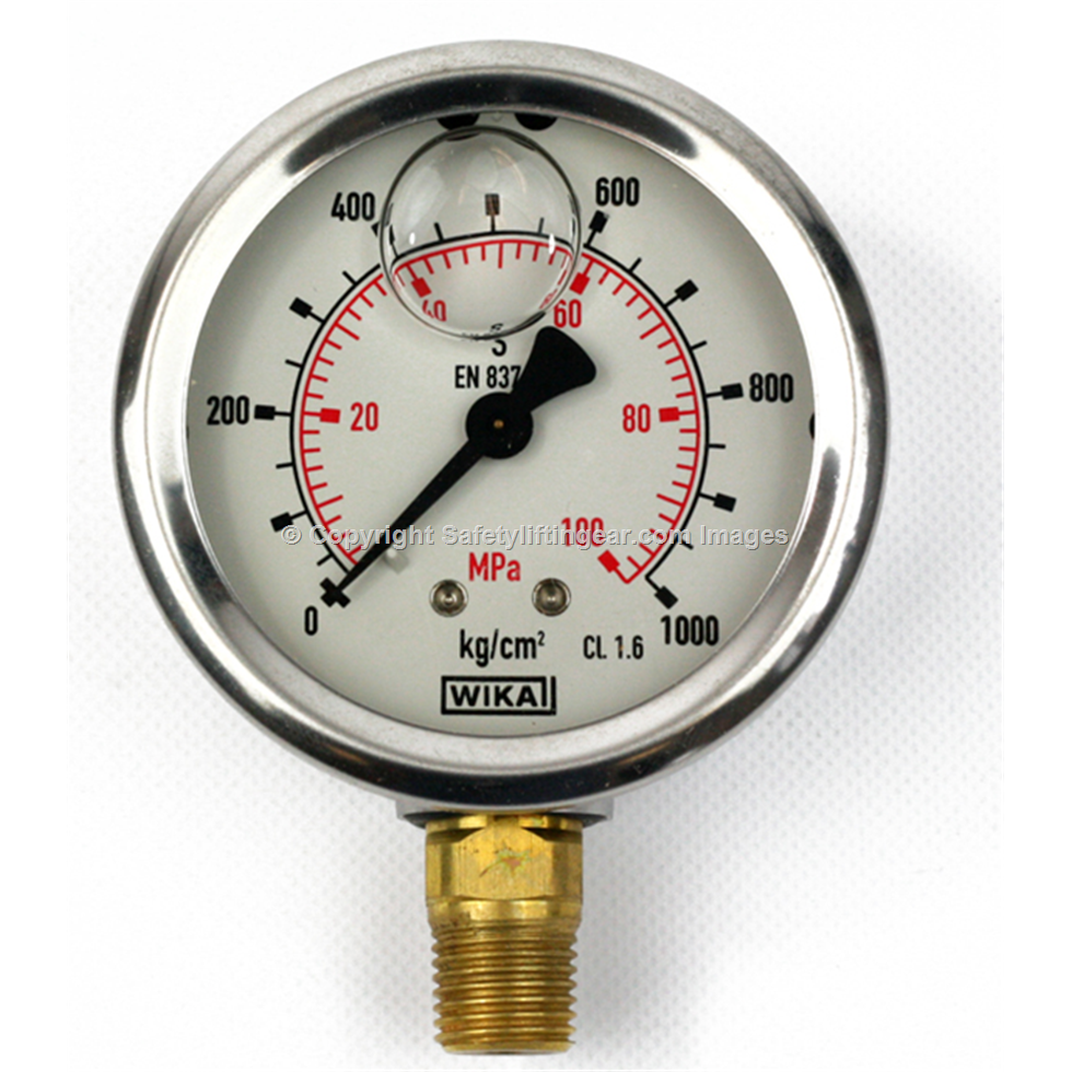 P s i bar pressure gauge quot npt safety lifting