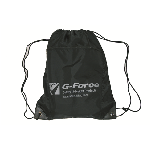 G-Force Black Drawstring Kit Bag