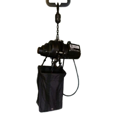 Inverted electric chainhoist 500kg 110v c/w bag