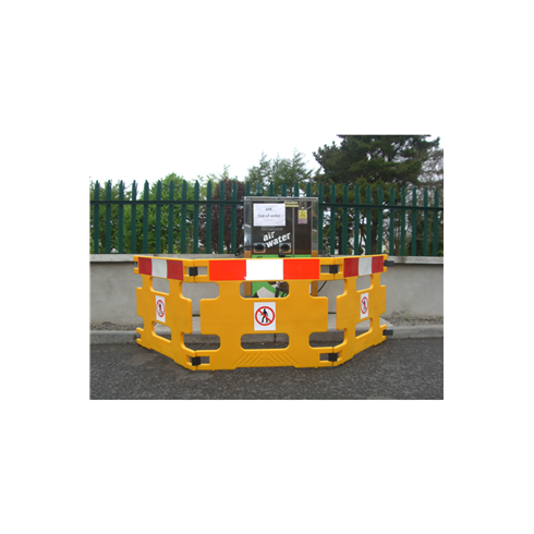 Addgards Handigard 3-panel Red/White Safety Barrier