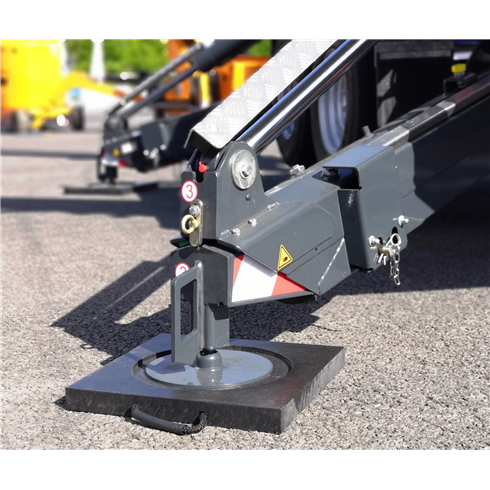 Ecolift 400x400x50mm Recessed Square Outrigger Pad