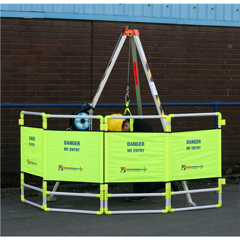 4 Panel Safety Barrier