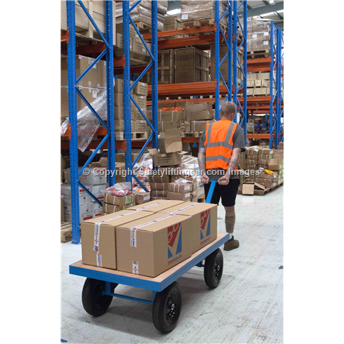 Site Trolley Heavy duty 1 tonne capacity Pneumatic Tyres