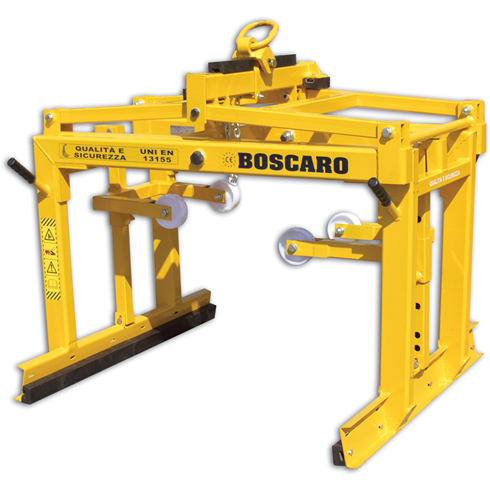 Block Grab 1800kg with Safety net facilty by Boscaro Italy.