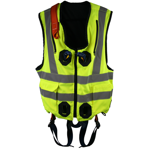 High Visibility Jacket Safety Harness Elasticated With Quick Release Buckles