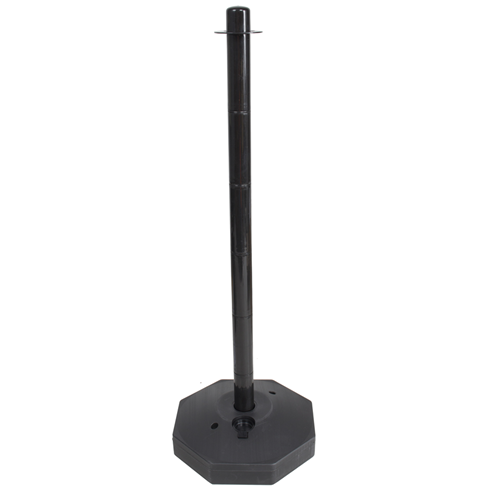 Black Plastic Safety Post with base