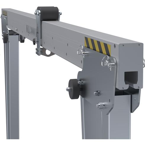 2500kg Aluminium Gantry, 5mtr beam, 2200-3600mm