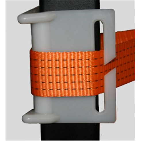 Corner Protector for Ratchet Lashing - protects webbing from sharp edges.