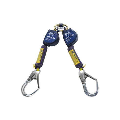 3M DBI-SALA 3101637 Nano-Lok XL Twin Leg Quick Connect 2.8mtr Self-Retracting Lifeline