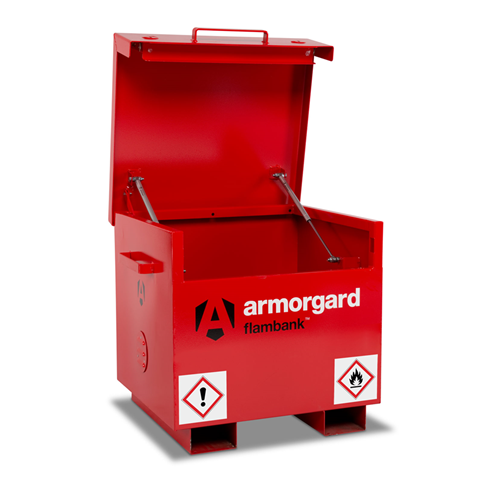 Armorgard FB21 FlamBank Hazardous Site Storage Box 765x675x670mm