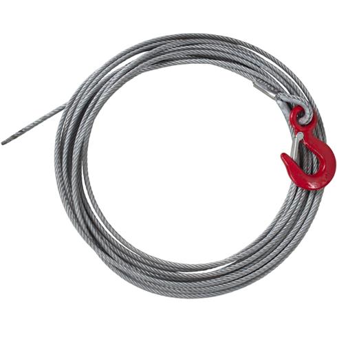 6mm x 10mtr Winch Rope c/w Latch Hook