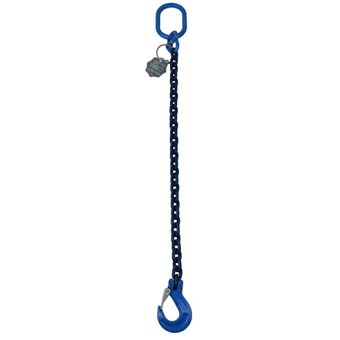 1.4 tonne 6mm Grade 100 Chainsling 1 Leg, Latch Hook