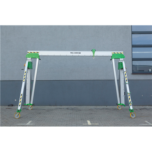 3000kg Aluminium Gantry, 4mtr beam, 3300-5700mm