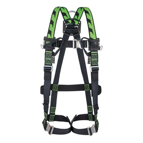 Miller 1032872 Duraflex H-Design Size 2 2pt Full Body Harness 2 Loops