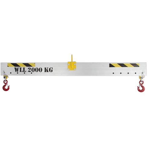 3500kg Adjustable Aluminium Lifting Beam x 2mtr