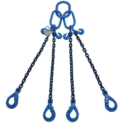 21 tonne Grade 100 4Leg Chainsling c/w Safety Hooks