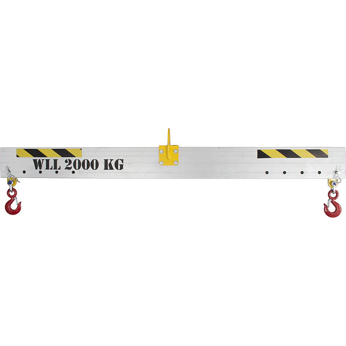 1750kg Adjustable Aluminium Lifting Beam x 2mtr