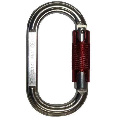 Karabiner Twist Lock Snap Hook, Aluminium (20mm Opening)