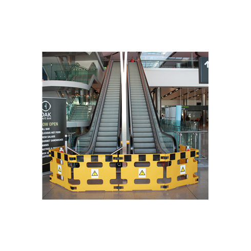 Addgards Handigard 4-panel Yellow/Black Safety Barrier