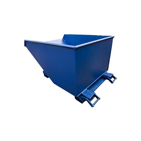 1250ltr Teleskip 2000kg SWL Forklift Tipping Skip c/w Castors