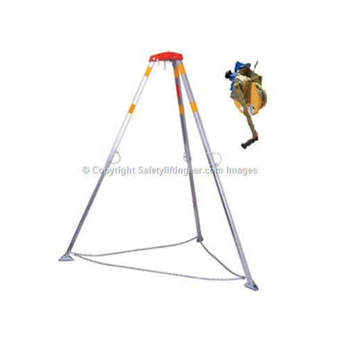 Confined Space Rescue Kit With 20 Metre Rescue Winch, Gas Decector, Breathing Apparatus, Harness