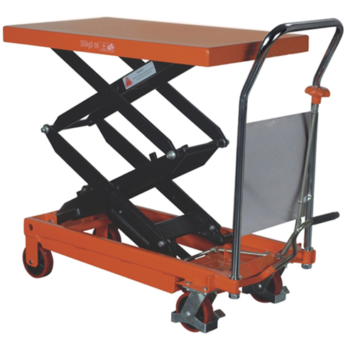 Double Vertical Scissor Lift  Hydraulic Platform Table 350kg