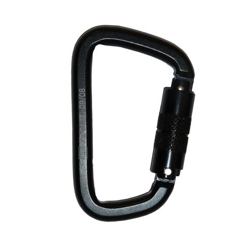 Black Twist To Lock Steel Karabiner (25mm Opening)