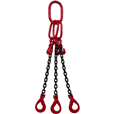 17 tonne 3Leg Chainsling, Adjusters & Comes With Safety Hooks