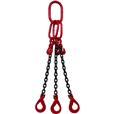 4.25 tonne 3Leg Chainsling, Adjusters c/w Safety Hooks