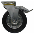 Aluminium Gantry (W2) 200mm Rubber Swivel Brake Caster (set of 4 wheels)