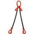 17 tonne 2-Leg ChainSling, Adjustable c/w Safety Hooks