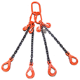 4.25 tonne 4Leg Chainsling, Adjusters c/w Safety Hooks