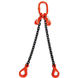 21.2 tonne 2-Leg ChainSling, Adjustable c/w Safety Hooks