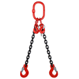 17 tonne 2 Leg Chainsling, Adjustable & c/w Latch Hooks