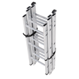 Aluminium Sectional 3x3 Surveyors Ladder