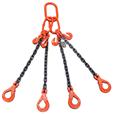 3.15 tonne 4Leg Chainsling, Adjusters c/w Safety Hooks