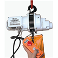 Electric hoist 250kg, 110 volt c/w bag.