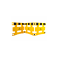 Addgards Handigard 2-panel Yellow/Black Safety Barrier